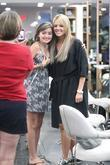 The Bachelorette star Ali Fedotowsky poses with a fan