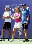 Novak Djokovic, Andy Roddick and Billie Jean King