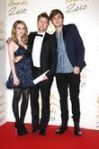 Emma Roberts, Christopher Bailey and Douglas Booth