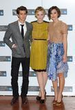 Andrew Garfield, Carey Mulligan and Keira Knightley