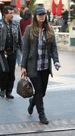 Brittny Gastineau is seen heading into a movie...