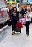 Brooke Vincent and Sacha Parkinson at Manchester Piccadilly...