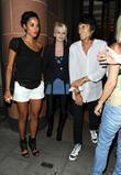 Ronnie Wood and Girlfriend Ana Araujo Leave C London Restaurant