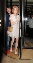 Nicola Roberts and Her Boyfriend Charlie Fennell Leave C London Restaurant Squeezing Together In The Revolving Doors