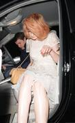 Nicola Roberts and Her Boyfriend Charlie Fennell Leave C London Restaurant