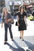 Camilla Belle, Wearing An All Black Ensemble and Shopping At The Grove In Hollywood With A Friend.