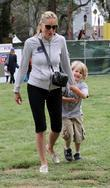 Sharon Stone, her son at the Elizabeth Glaser Celebrity Carnival in Santa Monica and CA