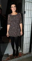 Kym Marsh arrives at Cassie Lomas Makeup Academy...