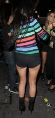 Sarah Purnell leaving Alto nightclub. London, England