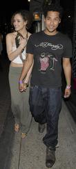 Devon Anderson and Nathalie Emmanuel Leaving Alto Nightclub.