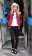 Ellie Goulding leaves the ITV studios after performing...