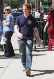 Christopher Carley Seen Leaving Bank Of America In Beverly Hills.