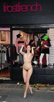 A Burlesque Performer Dances Outside The Cirque Du Frostfrench Party At The Frostfrench Store