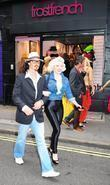 johnny depp and marilyn monroe lookalikes outside t
