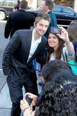 Robert Buckley posing with a fan