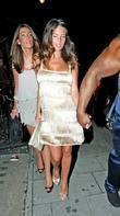 Danielle Lloyd and A Group Of Friends Leaving The Mayfair Hotel For A Night Out In Central London