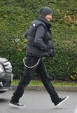 David Beckham  arriving at Tottenham Hotspur's training...