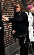 Steven Tyler Celebrities outside the Ed Sullivan Theater...