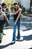 Ali Lohan leaving Lynwood Correctional Facility after visiting...