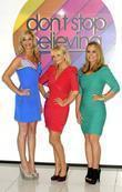 Tamzin Outhwaite, Anastacia and Emma Bunton Photocall to...