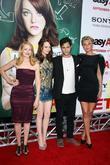 Patricia Clarkson, Aly Michalka, Emma Stone and Penn Badgley