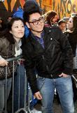 Andrew Garcia arriving outside the Ed Sullivan Theater...