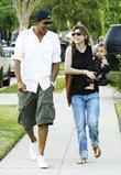 Ellen Pompeo and Chris Ivery With Their Daughter Stella Luna Were Spotted Leaving A Friends Home In Beverly Hills