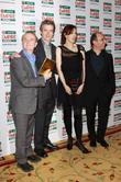 Ian Hislop, Peter Capaldi, Gina McKee and Director Armando Iannucci pose with the award for Best Comedy