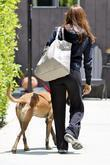 Eva Mendes and her dog