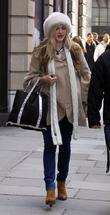 Fearne Cotton  leaving the Radio One studios...