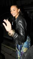 Alesha Dixon,  leaving Gary Barlow's 40th birthday...
