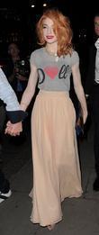 Nicola Roberts and her boyfriend Charlie Fennell leaving the Mandarin Oriental Hotel
