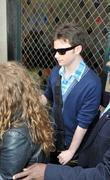 'Glee' star Chris Colfer outside a restaurant in...