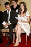 Josh Duhamel and Katie Holmes 68th Annual Golden...