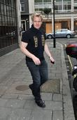 Gordon Ramsay leaving the BBC Radio One studios...