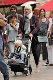 Gwen Stefani and son, Zuma  watching the...