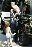 Gwen Stefani and son Zuma outside her parents home in Los Angeles