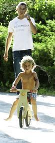 Gavin Rossdale and Kingston Rossdale attend a friends birthday party in Los Angeles