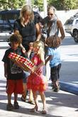 Seal, Heidi Klum and their children Leni, Henry,...