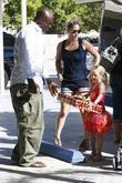 Seal and his daughter Leni Klum arrive for...