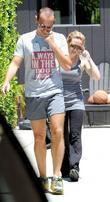 Hilary Duff wearing sunglasses outside her personal trainer's...