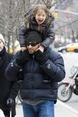 Hugh Jackman carries his daughter Ava Eliot Jackman...