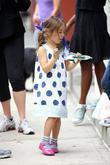 Ava Jackman enjoys a snack after school