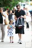 Hugh Jackman walks his daughter Ava Jackman home...