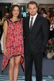 Marion Cotillard, Leonardo DiCaprio The premiere of Inception...