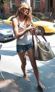 Irina Shayk Russia model arriving at a coffee...