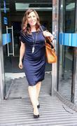 Clare Nasir leaves the ITV studios London, England