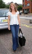 Helen Morton leaves the ITV studios London, England