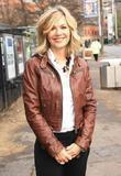 Glynis Barber outside the ITV studios London, England