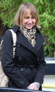 Carol McGiffin outside the ITV studios London, England